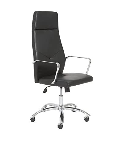 Euro Style Napoleon High Back Office Chair, Black