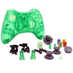 Xbox 360 - Repair Part - Controller Housing Shell - FULL SET - Clear Green