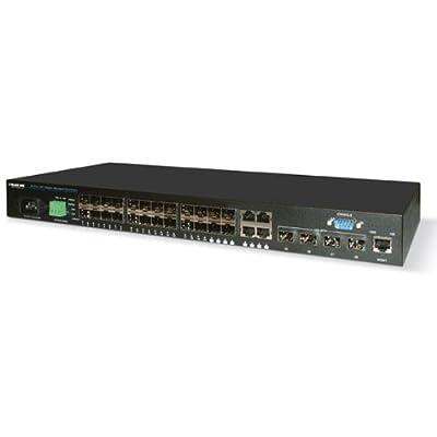 Black Box SFP Gigabit/10-Gigabit Managed Fiber Switch Eco, 28-Port