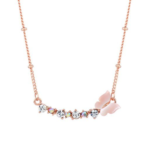 Neoglory Jewelry Stylish Butterfly Pendant Copper Plating Shell Necklace Fashion Charm Ornamentation