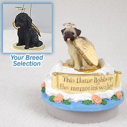 Cockapoo Black Candle Topper Tiny One Pet Angel Ornament Candle (Set of 3)