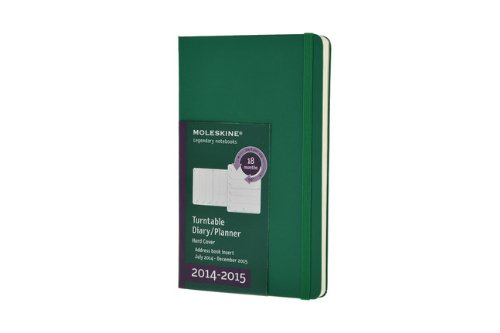 Moleskine 2014-2015 Turntable Weekly Planner, 18M, Large, Oxide Green, Hard Cover (5 x 8.25) (Moleskine Diaries) (Moleskine Planner Turntable 2015 compare prices)