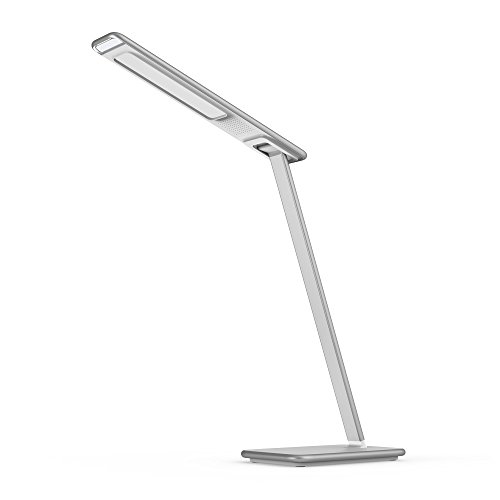 Design-LED-Tischlampe-induktiv-10W-silber-wei-USB-Lichtfarbwechsel-Laden-per-Induktion