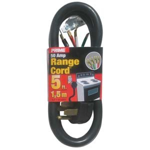 5 Ft 6/2 & 8/2 50 Amp Black 4-Wire Range Cord (50 Amp Rv Extension Cord Reel compare prices)