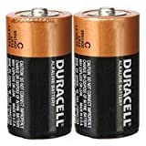 Duracell MN1400B2 2 Pack C Long Lasting Power Alkaline Batteries