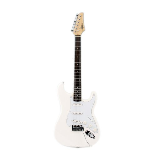 Legacy Solid Body Electric Guitar, White