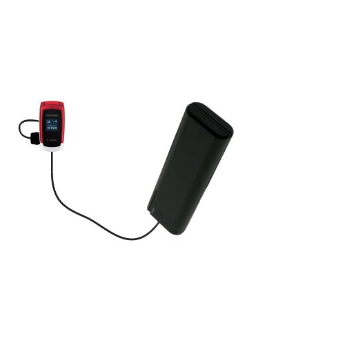 Gomadic Portable AA Battery Pack designed for the Samsung SGH-T219 - Powered by 4 X AA Batteries to provide Emergency charge. Built using TipExchange Technology