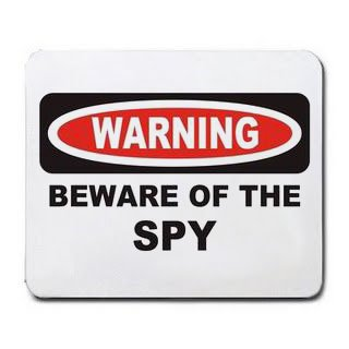 BEWARE OF THE SPY Mousepad