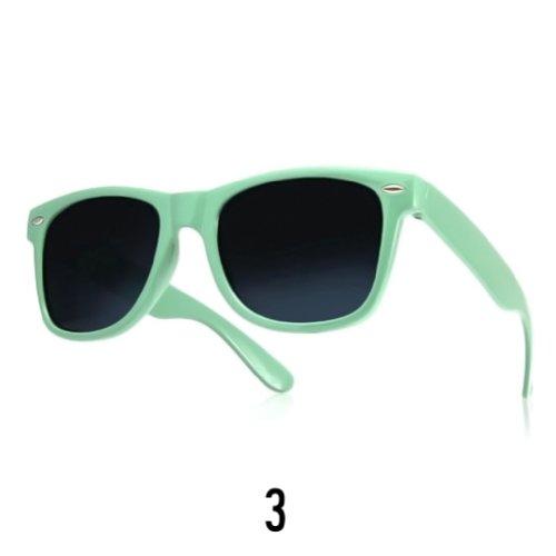 Sonnenbrille Nerdbrille retro Wayfarer Unisex Herren/Damen Sonnenbrille, UV-Schutz 400, Schildpatt Herren Sonnenbrille Spicoli 4 Shades, Tortoise Aussen, One size (3)