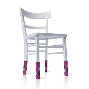 """Parkettschoner +++ Möbelgleiter """"Personality Socks"""" in argylepink +++ stylischer und humorvoller Schutz für den Boden +++ DESIGNED IN BERLIN"""