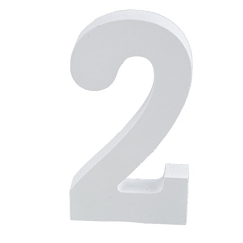 Hoomall White Wooden Number Alphabet Wall Hanging Wedding Party Home Shop Decoration 2 (Wooden Numbers compare prices)