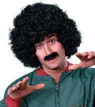 Scouser Set with Black Wig and Tash. Ideal for groups. Add to retro tracksuit/shell suit costume.