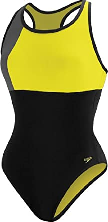 Buy Speedo Ladies Color Block Thick Strap Swimsuit by Speedo