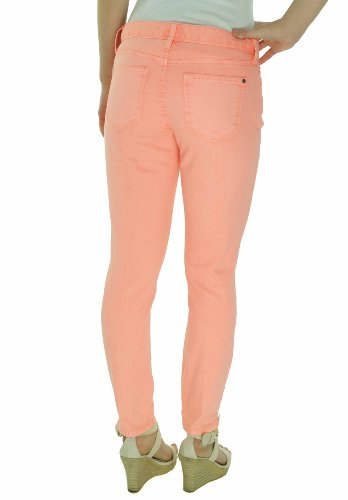 Tommy Hilfiger Women's Colored Wash Skinny Crop Zip Ankle Jeans (10, Pearl Peach)