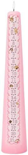 Celebration Candles 1-21 Year Numbered Birthday Candle, Pink
