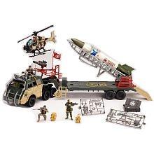 Buy Low Price True Heroes Military True Heroes Jumbo Rocket Transport Playset Figure (B0049C8Z3O)