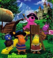 Backyardigans Pirates Tyrone Uniqua Fleece Afghan Throw Blanket