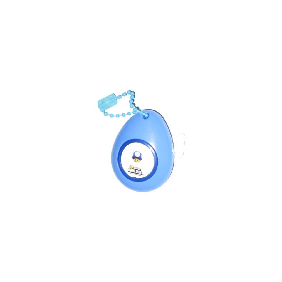 Nintendo Super Mario Bros. Blue Mushroom Sound Drop Keychain