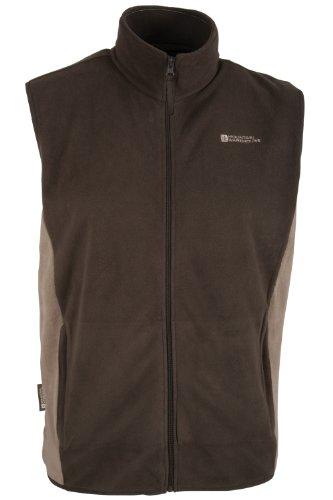 Men's Grove Fleece Gilet - Colour Brown Size XXX-Large