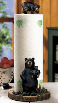 Lodge Black Bear Kitchen Paper Towel Holder Decor - Ronnidbvc