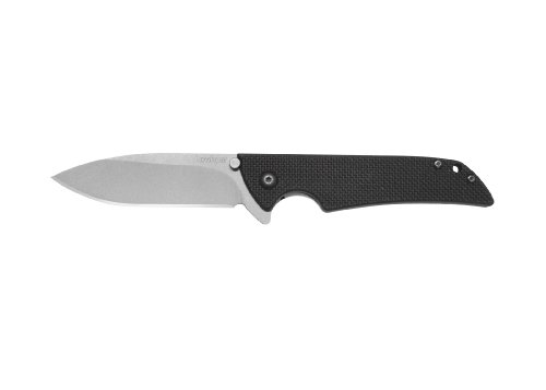 Kershaw Skyline Knife with Textured Black G-10 Handle and stone-washed finish Blade