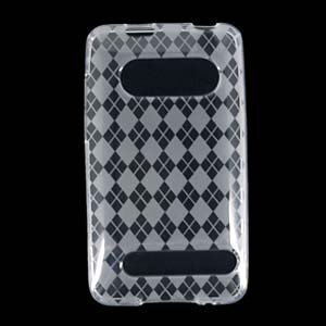 CLEAR AGRYLE CHECKER SOFT CRYSTAL TPU SKIN GEL COVER CASE FOR HTC EVO 4G