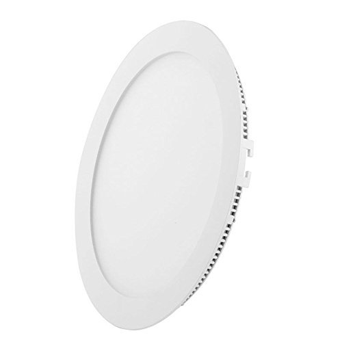 Royoled, 12W 2835 Smd Led Warm White Panel Light -Round Recessed Ceiling Panel Down Light Lamp