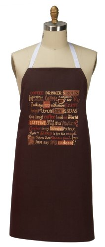 Kay Dee Designs Jest For Chef Cotton Apron, 26 By 33-Inch, Coffee Drinker Rules