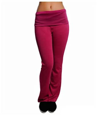 G2 Chic Women's Stretch Yoga Pant with Contrasting Band(ACT-PNT,MGNA1-S)