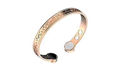 Copper Bracelet with Extra Strong Magnets for Arthritis Pain Relief Prime Magnet Therapy and Pain Relief Bracelets Negative Ions Increased Energy by Rosian & Levine