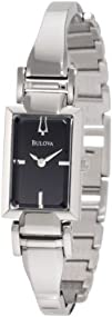 Bulova Womens 96L138 Stainless Steel and Black Dial Bangle Watch