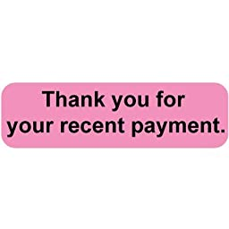Colortrieve Pink Recent Payment Label, 5/16\