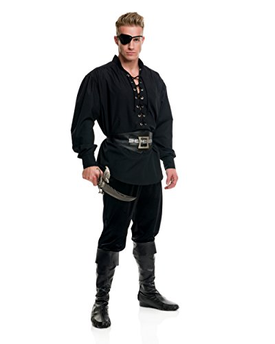 Charades Mens Eyelet Pirate Shirt Adult Costume