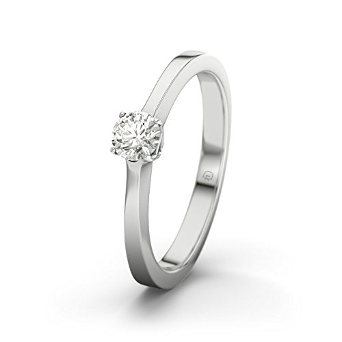 21DIAMONDS Women's Ring San Marino 0.2 ct Brilliant Cut Diamond Engagement Ring - Silver Engagement Ring