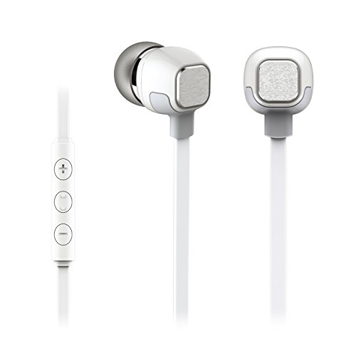 In-Ear Headphones, Heavy Bass Earbuds Earphones with Mic by Zero-One Audio Rockr- High Quality Stereo Sound- Made for Android Cell Phones, Samsung, iPhone 6, 6 Plus, 5, 5s, 4, iPad