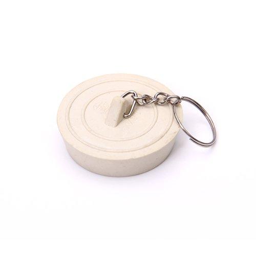 Rubber Bathtub Sink Wash Basin Plug Stopper--Off-White