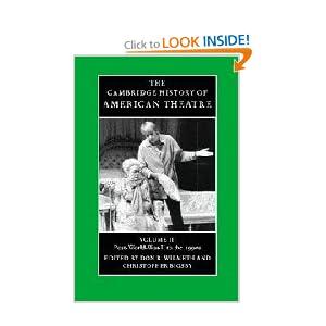 cover image of Cambridge History of American Theatre volume 3