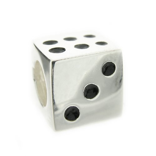 Truth Sterling Silver Dice Charm