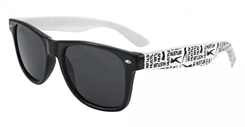 Unisex Wayfarer Retro Vintage specchio Uomo Dona Occhiali Da Sole rispecchiata Sunglasses Sport Protezione UV (Hustler )
