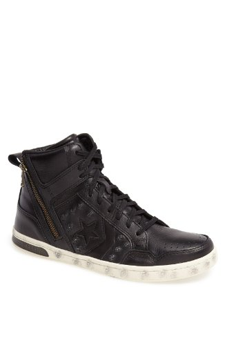 Converse By John Varvatos 'JV Weapon' Zip Hi Top Shoes Black/Turtledove 142967C (SIZE: 8.5)