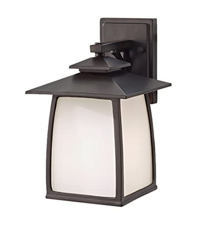 Feiss 1-Light Wright House Outdoor Sconce, Oil Rubbed Bronze