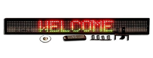 One Line Semi-Outdoor Ultra Bright Tricolor Red/Green Led Programmable Display Sign With Wireless Remote Control