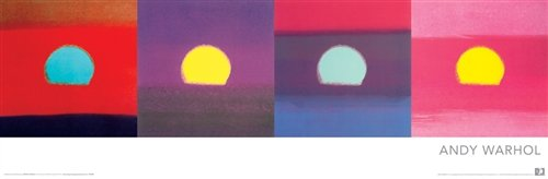 Andy Warhol Sunset Pop Art Poster 12 x 36 inches