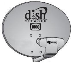 DISH Network Dish1000.4 Western Arc Satellite Dish Antenna - Compatible with High Definition