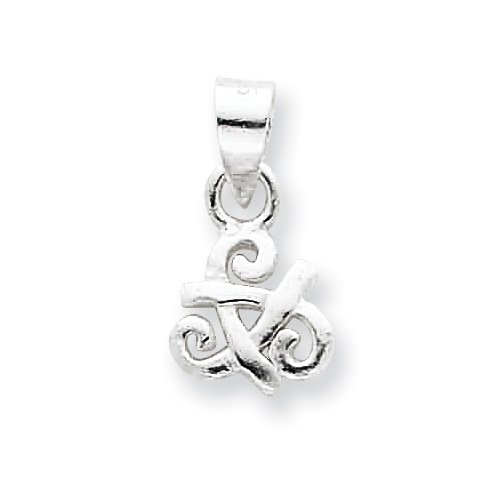Celtic Claddagh Charm Sterling Silver 18