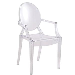 Designer Modern Louis Ghost Chair - Modern Acrylic Arm Chair