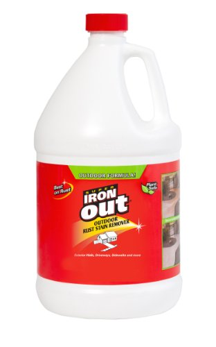 Comparamus super iron out li04128n rust stain remover 1 for Driveway stain remover