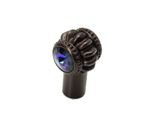 Carpe Diem Hardware 867-12H Cache Double Knob Made with Swarovski Element, Bronze, 3/4-Inch by Carpe Diem Hardware