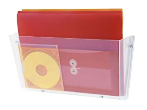 Deflecto 63201 One-pocket unbreakable docupocket wall file, letter, clear, 14-1/2 x 3 x 6-1/2