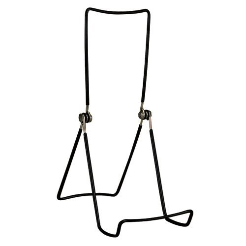 Gibson Holders 6AC 3-Wire Display Stand with Deep Edge, Black, 4-Pack (Book Display Stand Wire compare prices)